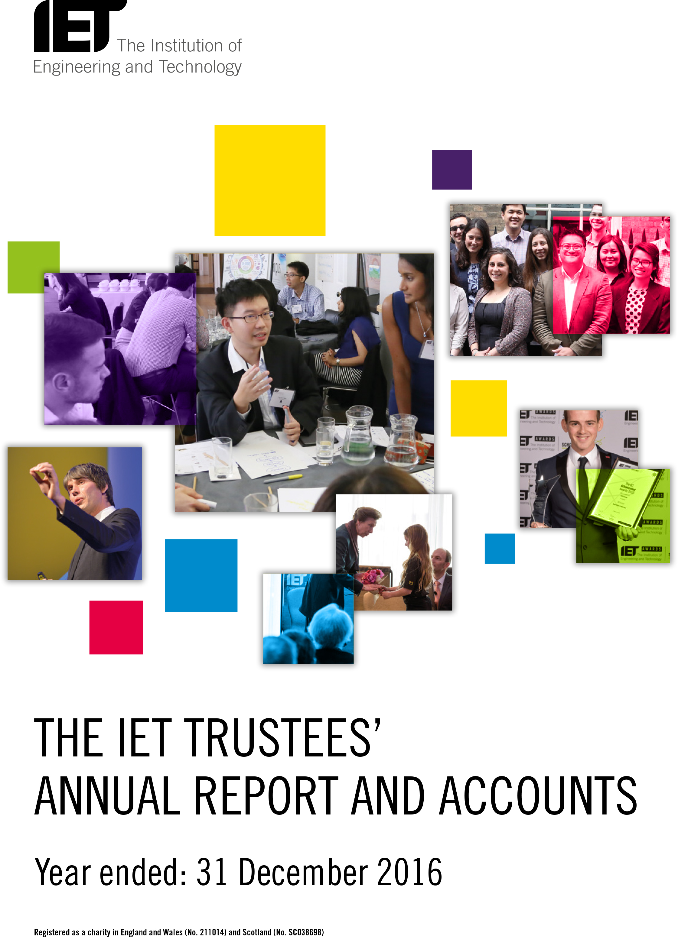 2016 IET Annual Report cover image
