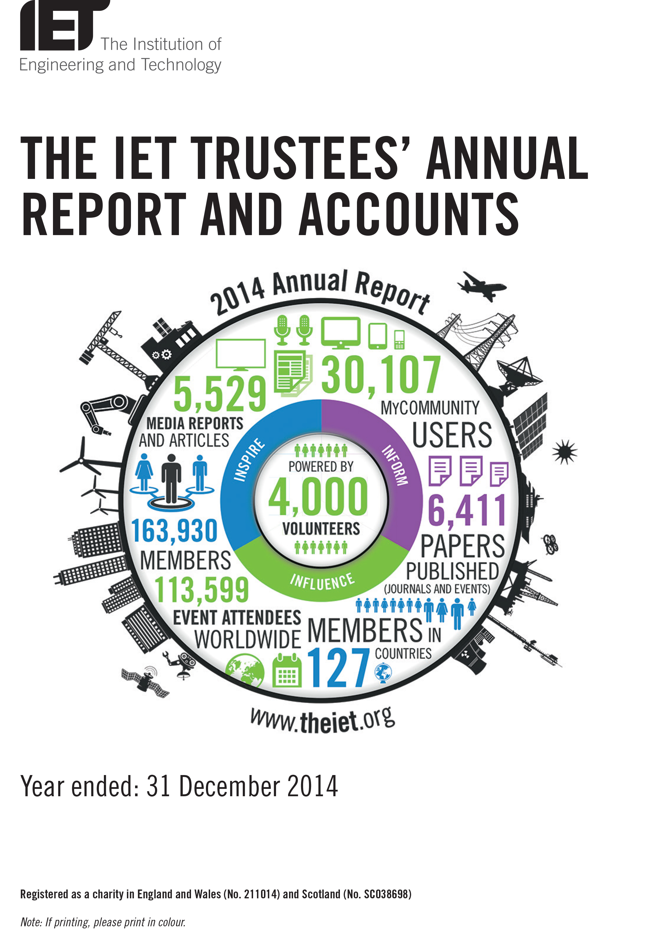 2014 IET Annual Report cover image