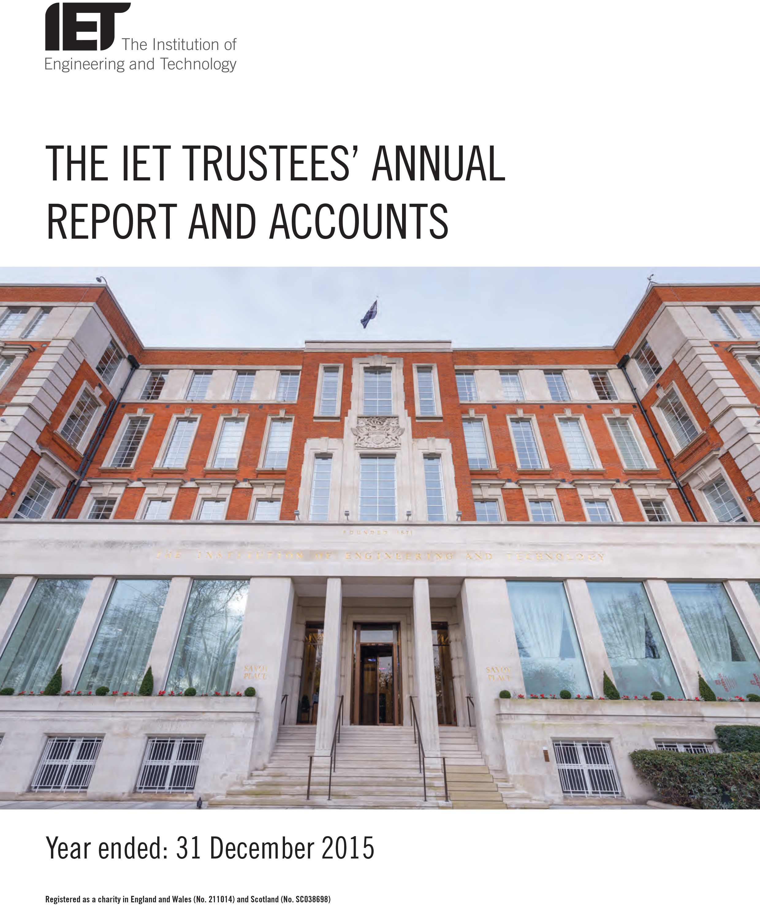 2015 IET Annual Report cover image