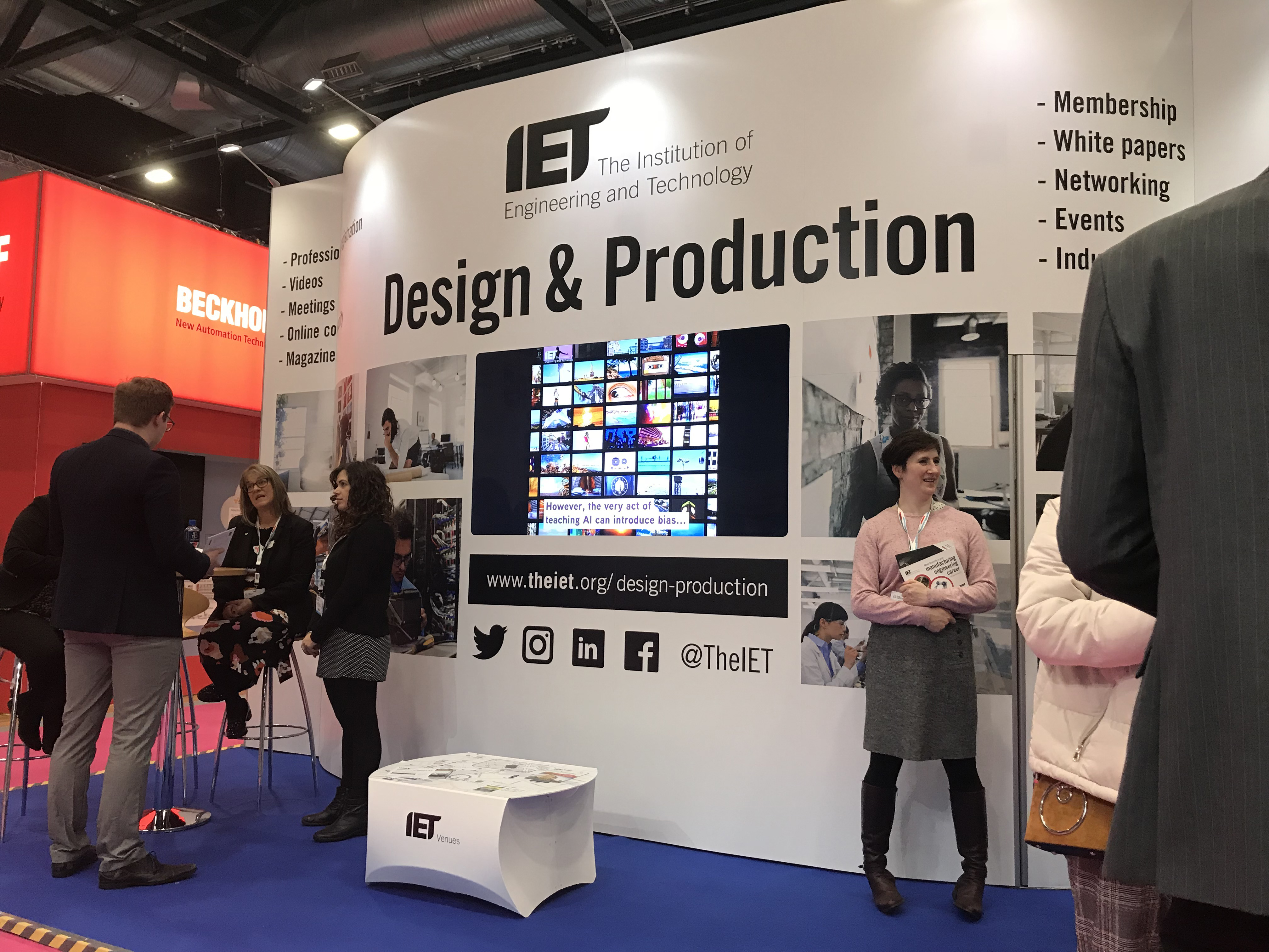 IET stand at Digital Manufacturing Week 2018
