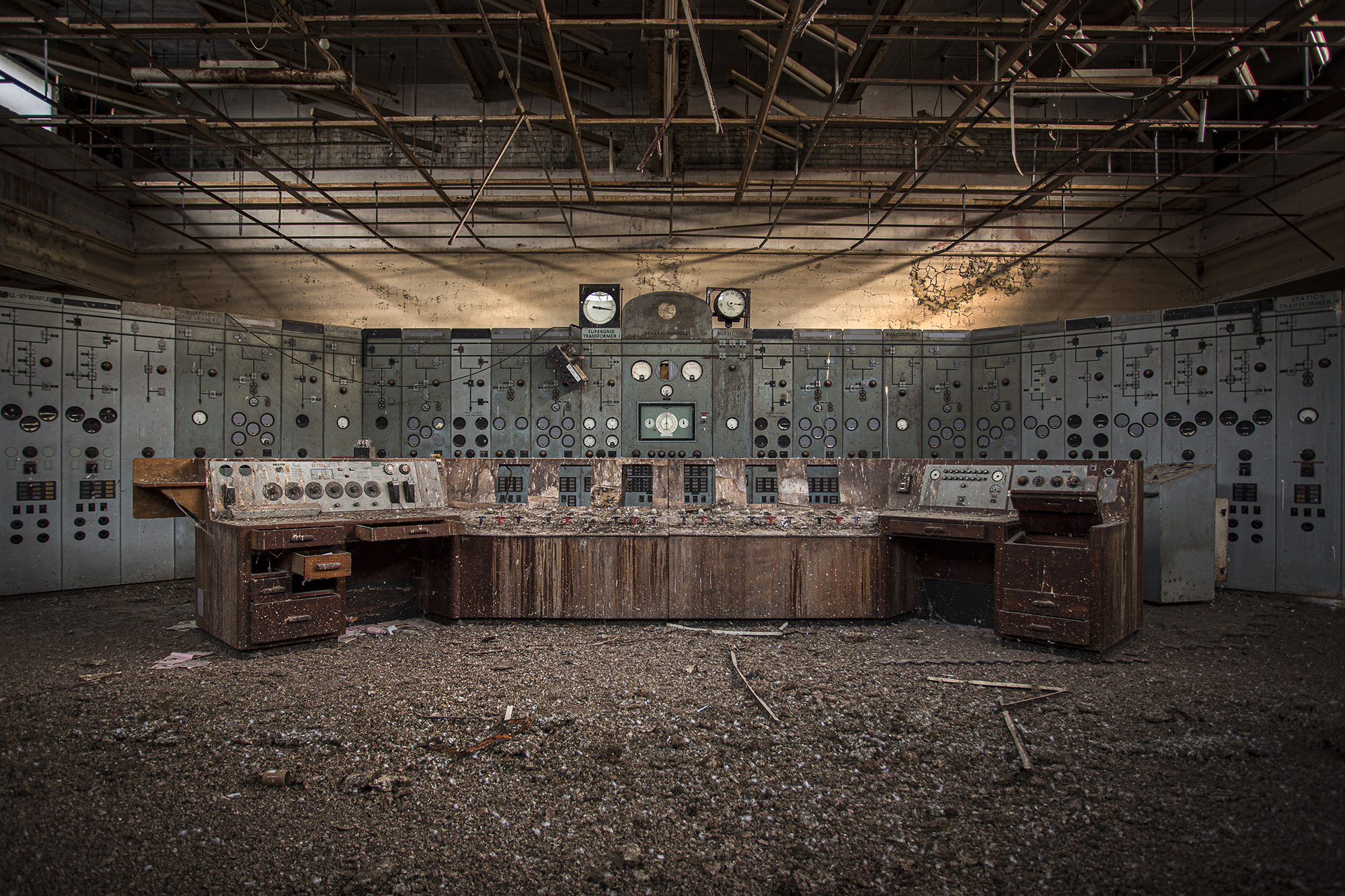 Crumbling Power Station Desk at Sunrise by Dibs McCallum