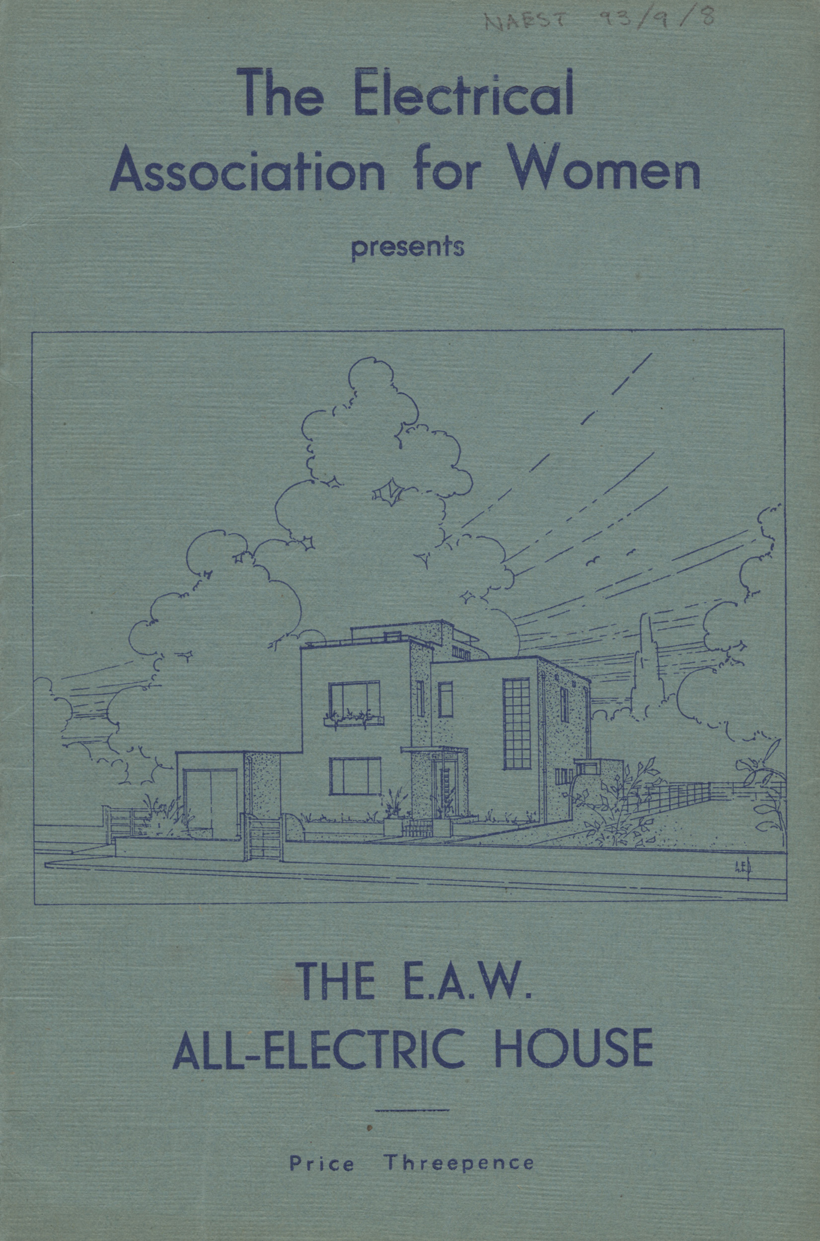 EAW booklet, 'The EAW all-electric house' date unknown c.1936 IET Archives ref NAEST 093/09/08.